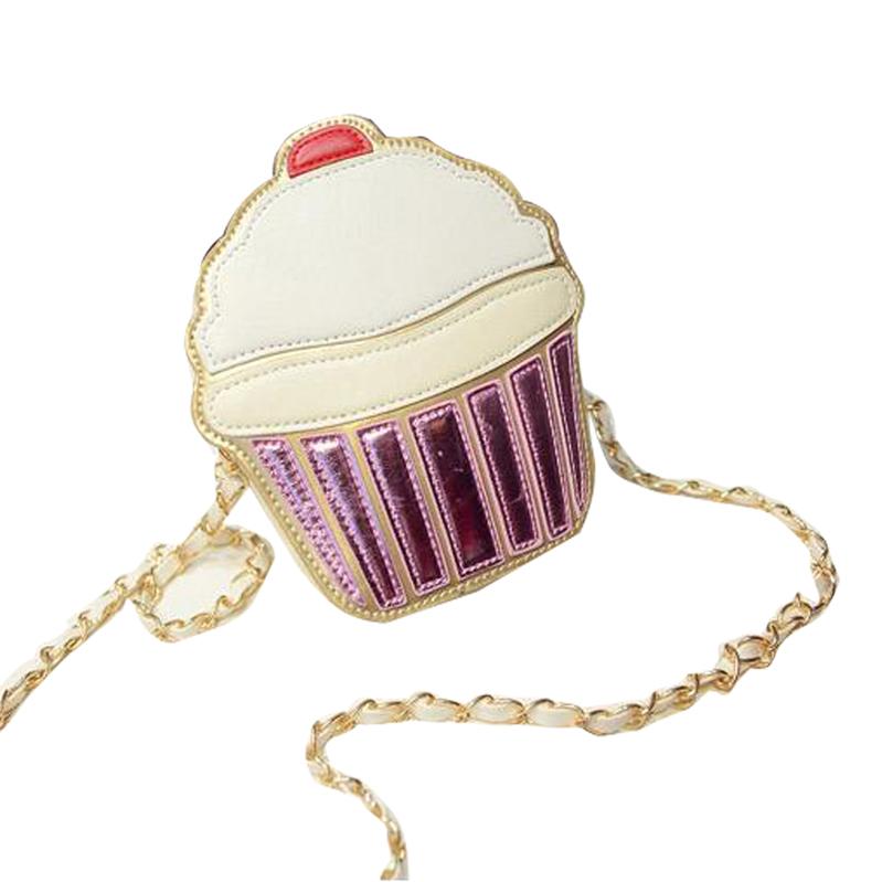 Gaorui женщины кекс мороженое сумка кожа pu плеча сумка кошелек тотализатор почтовые сцепления