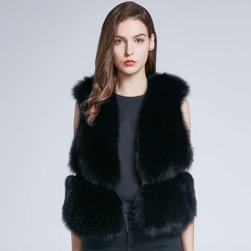 FURART черный XL 2017 осень и зима новые перья хлопка жилет женщин в длинный жилет корейской версии цвета с капюшоном куртки куртки куртки