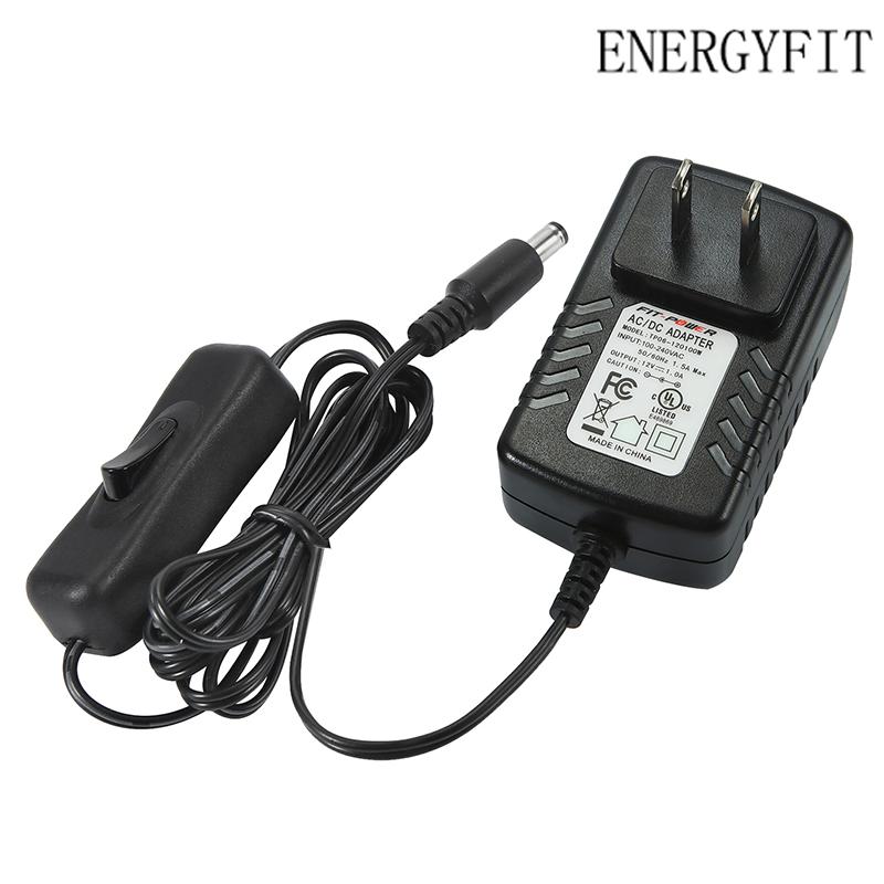 ENERGYFIT  Стандарт США 12v 1a 12w 12 1 v напряжение на входе a amp w watt ac dc адаптер адаптера питания