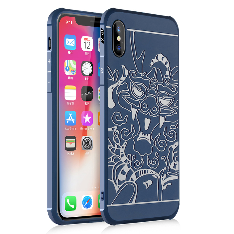 Iphone 7 goowiiz Дракон Синий iPhone X фото