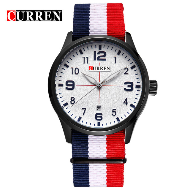 CURREN 03 часы nixon porter nylon gold white red