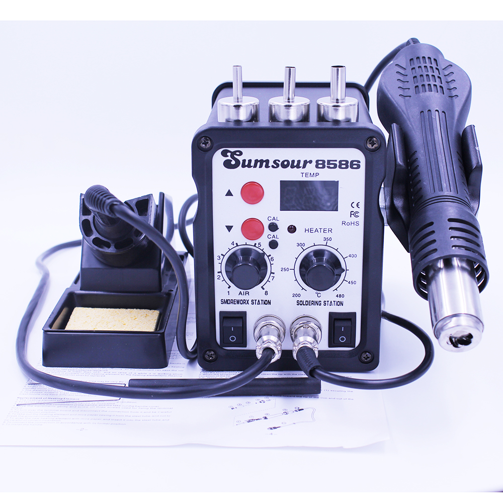 Sumsour hot air rework station 1pc hot air gun 700w 220v or 110v hot blower heat gun 852d