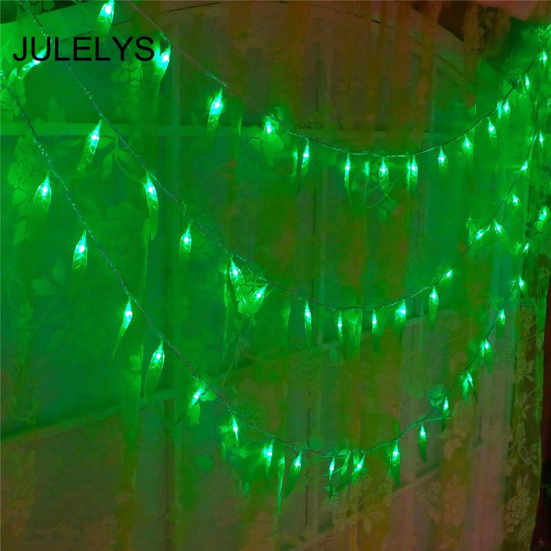 JULELYS зеленый Батарея AA 10M 80 Лампы julelys 10m x 2m 640 bulbs led свадебный занавес light outdoor christmas garland string lights украшение для hilday party garden