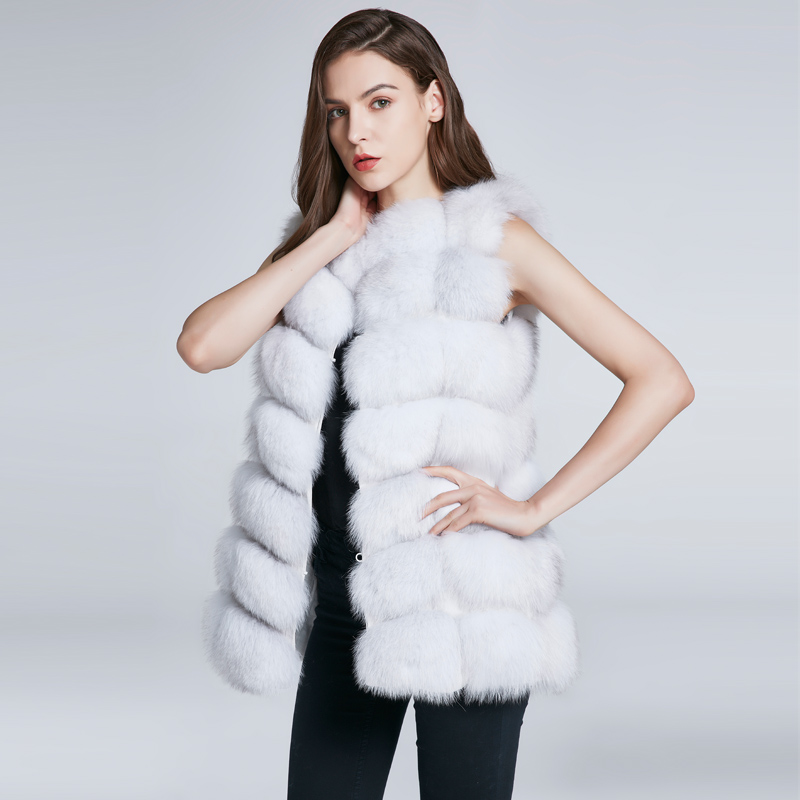 FURART белый M children real crystal fox fur coat 2018 new autumn winter girls boys natural fur coat clothing warm kids thicken jacket