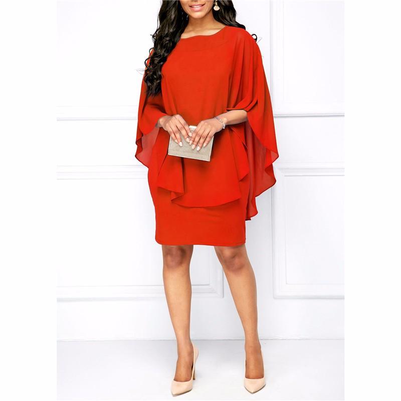 Платье платья шикарное платье женщин платье венчания платья лета SAKAZY красный S фото