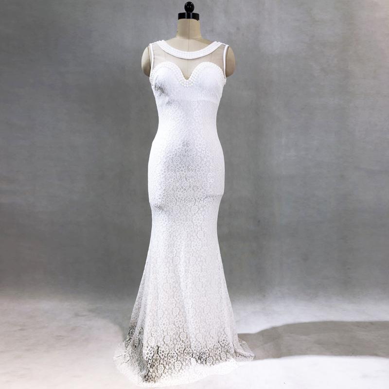 Вечернее платье Kalinnu белый XL фото