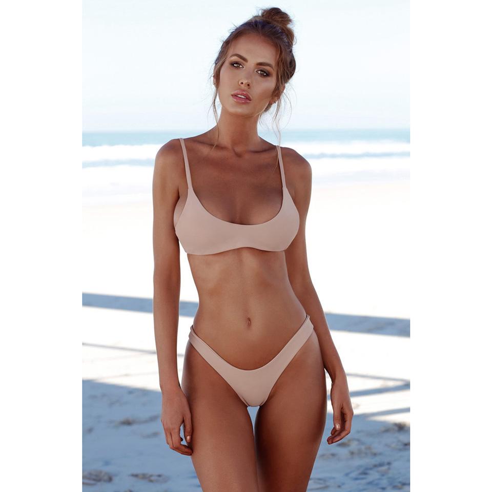 M&M Розовый M brazilian tanga bikini 2016 swimwear women big bow thong bikini bottom sexy brazilian biquini bralette trajes de bano women