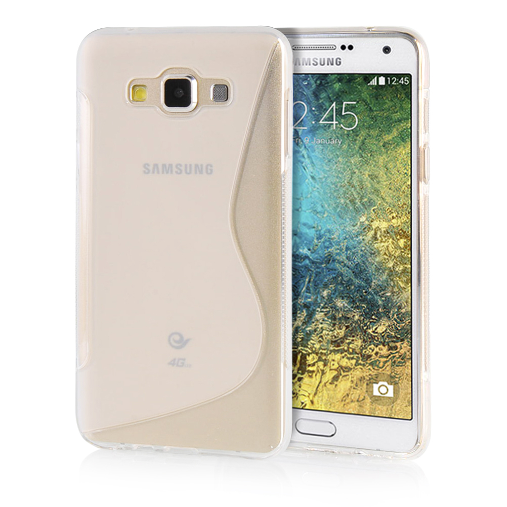 MOONCASE mooncase s line soft flexible silicone gel tpu skin shell back чехол для samsung galaxy e5 e500 grey