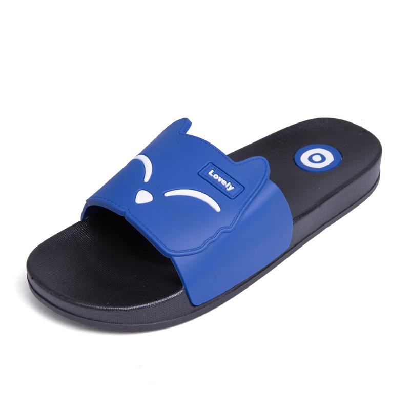 Dayocra синий 8 fashion 2018 emoji women slides summer smile face cute slippers women shoes flip flops sandals beach slides zapatillas mujer