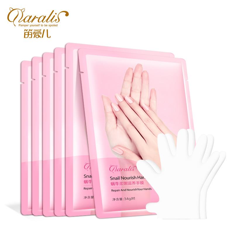 уход за полостью рта для женщин Увлажняющая маска для рук Улитка для рук Увлажняющая отбеливающая ручка purederm увлажняющая и питательная маска для ногтей пальцев рук 3 шт