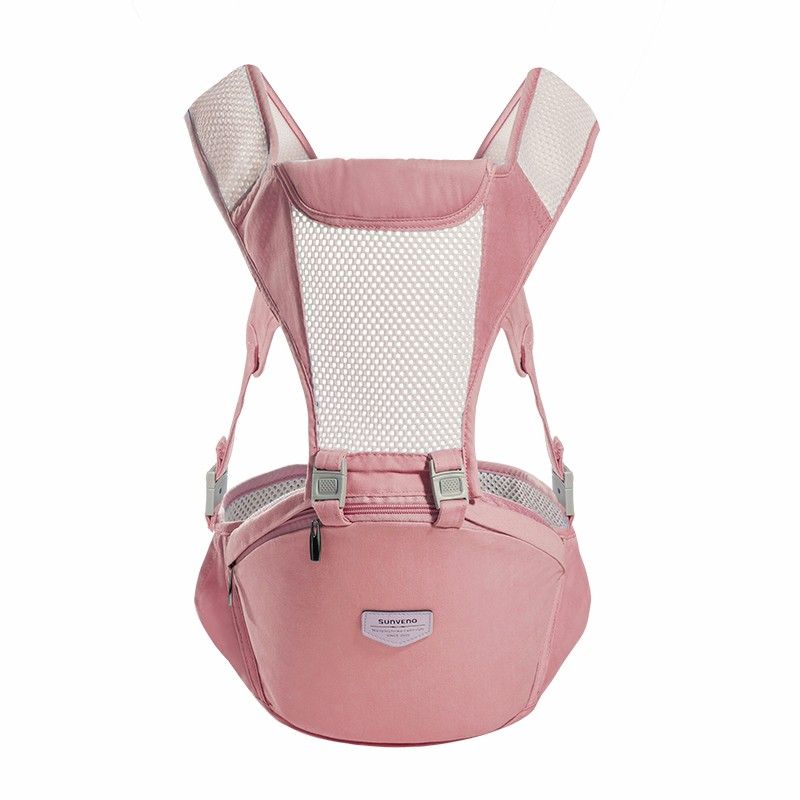 sunveno Розовый baby hipseat four seasons breathable baby shoulder carrier cotton baby carrier infant backpack for kids toddler sling md bd08