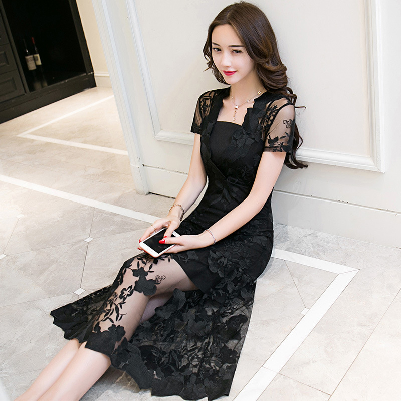 KAITINGNI черный S женское платье s