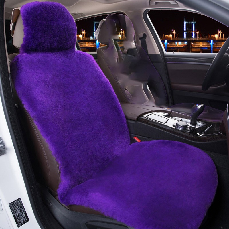 COVERS Фиолетовая шерстяная обивка Плюш 03 front rear high quality leather universal car seat cushion seat covers for fiat punto bravo 500 panda auto seat protector