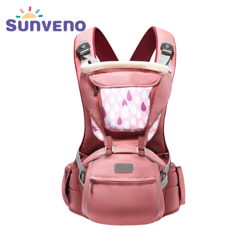 sunveno Розовый цвет baby hipseat four seasons breathable baby shoulder carrier cotton baby carrier infant backpack for kids toddler sling md bd08