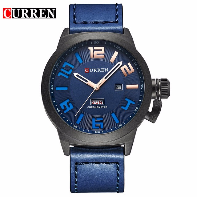 CURREN 04 fashion top luxury brand curren watches men stainless steel mesh strap quartz watch ultra thin dial clock man relogio masculino