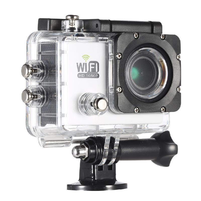 ANDOER белый action camera 4k 30fps ultra hd 1080p 120fps 20mp sports dv водонепроницаемый wifi водонепроницаемый 170 градусов