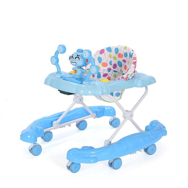 Синий цвет 4-6 месяцев baby pediatric walker 6 7 18 months anti rollover multi function scooter with music toy car