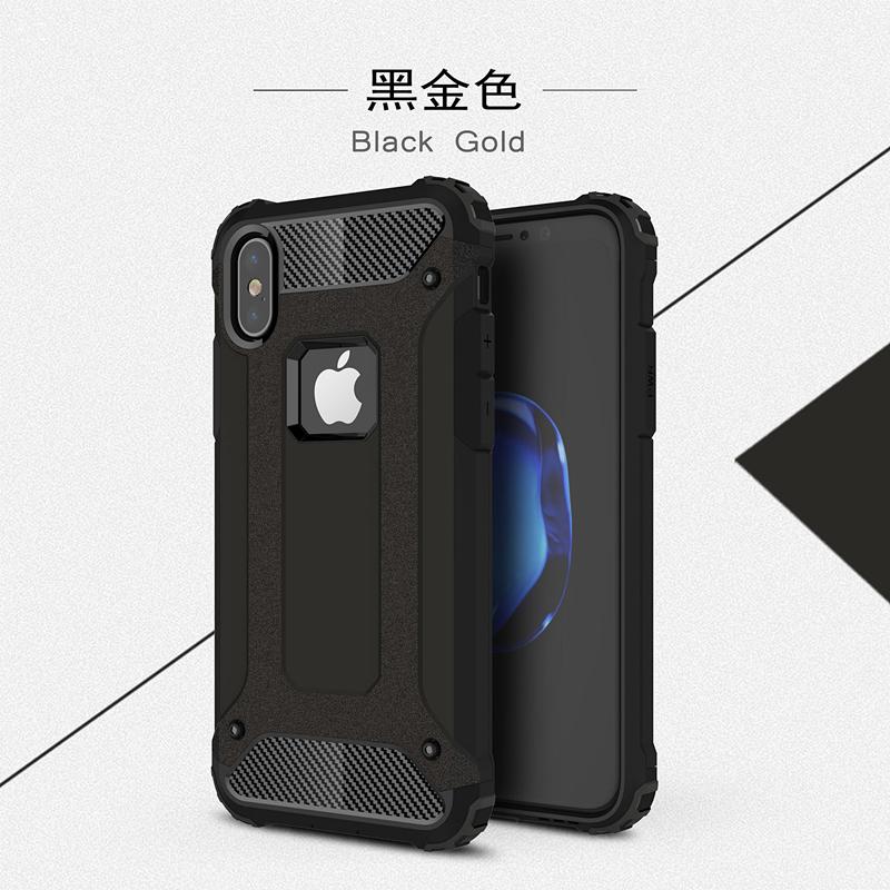 goowiiz черный iphone 78 skid proof drop proof tpu bumper with pc back panel for iphone 7 black