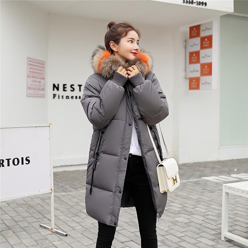 XYPANDA Серый XXL 2017 зима мода новый дамы хлопок пальто длинный хлопок куртка куртка толстый хлопок куртка