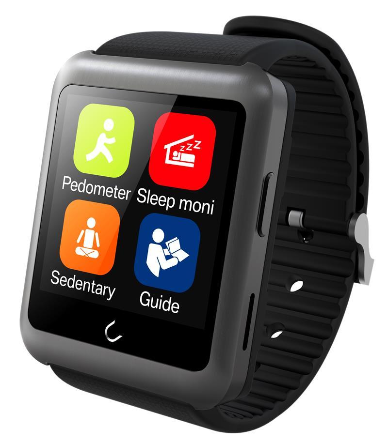 Uwatch Серый цвет элегантность умные часы bluetooth умные часы хороший подарок для друга мама папа сестра брат