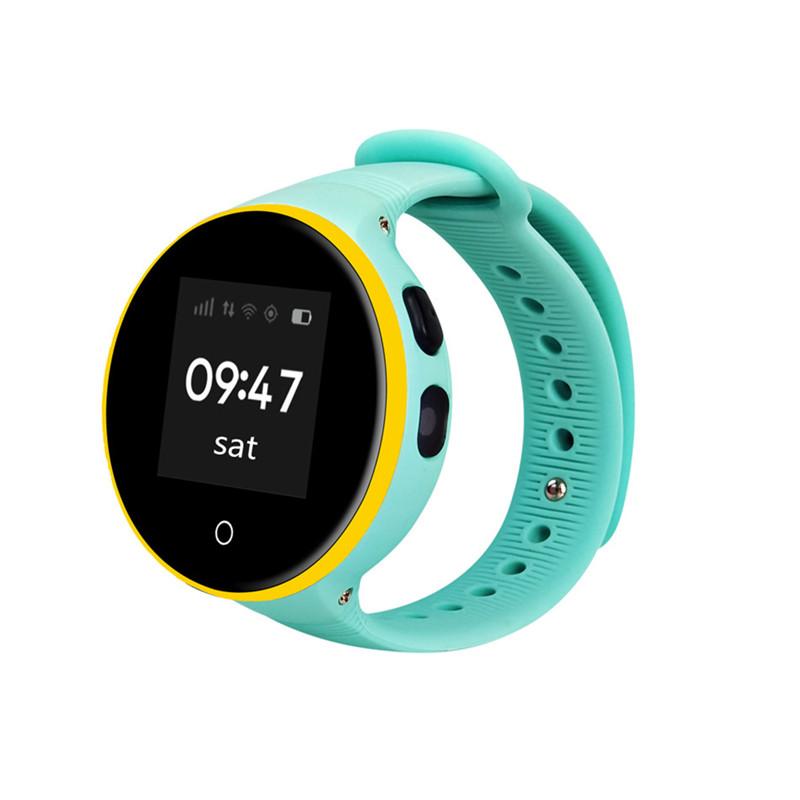 HOYAT Blue children smart watch ds18 gpm gps wifi locator tracker kids wristwatch waterproof sos call smartwatch child for ios android f19