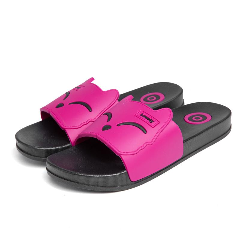 Dayocra Роза 11 fashion 2018 emoji women slides summer smile face cute slippers women shoes flip flops sandals beach slides zapatillas mujer