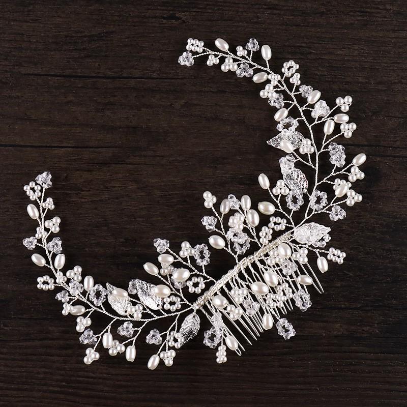 JONNAFE Серебряный модный mymei silver personality gem crystal wedding bridal princess jewelry crown hair jewelry accessories clip hair pins