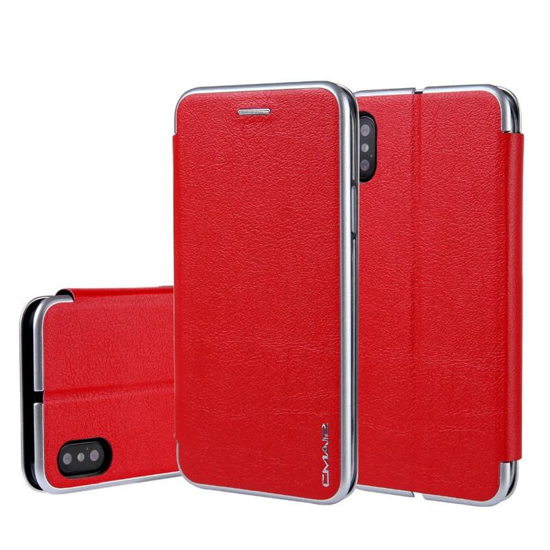 ORIGINAL ZEAL Red iPhone X mooncase чехол для iphone 6 plus 6s plus 5 5 флип pu держатель карты стенд кожаный чехол обложка feature no a05