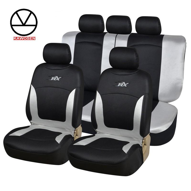 KAWOSEN Комфортная дышащая сетчатая ткань для сидений автомобиля COVERS Черная сетчатая ткань фото