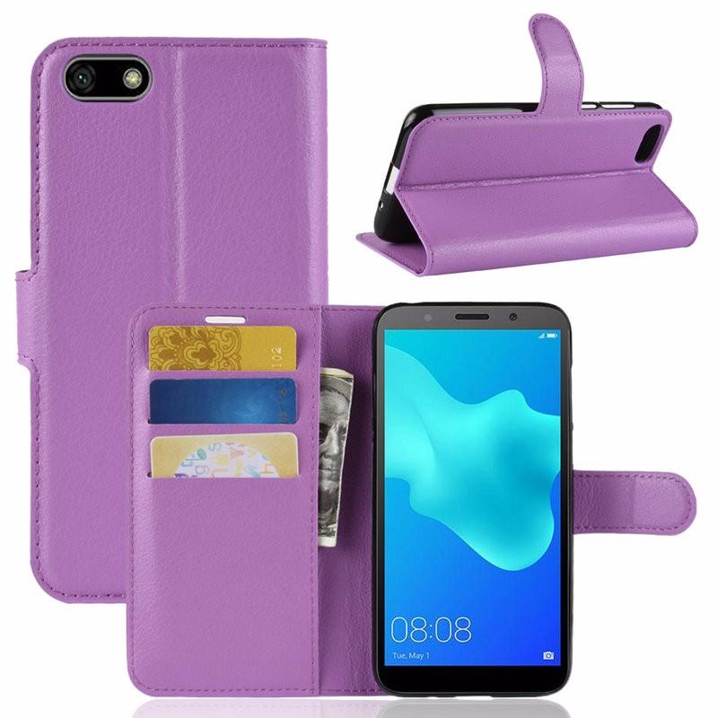 Для Huawei Honor 7A 545 Кошелек для телефона с футляром для мобильного телефона с чеком для Huawei Honor 7A 545 для Huawei Honor 7A 545 DUA-L22 Русская версия Flip Leather Cover Case Fundas WIERSS Пурпурный фото