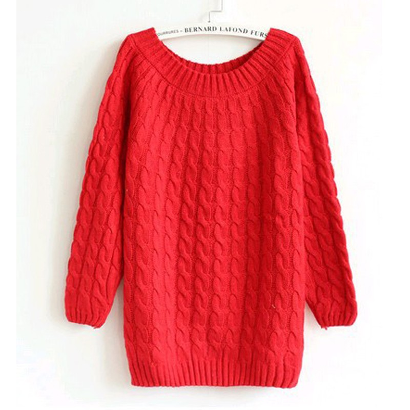 quzihua Красный Свободный пуловер mexx джемперы свитера и пуловеры с вырезом