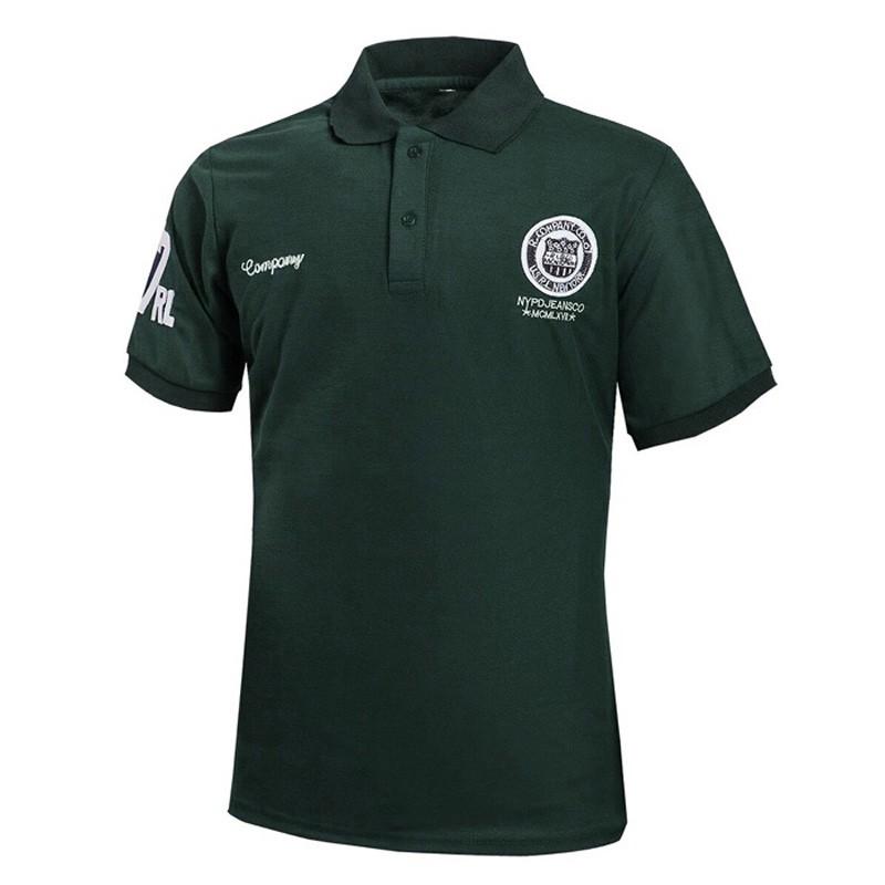 Рубашки поло T рубашки Модные короткие рукава Топы Рубашки поло Мужская личность Xuanxuan diary Зеленый XL фото