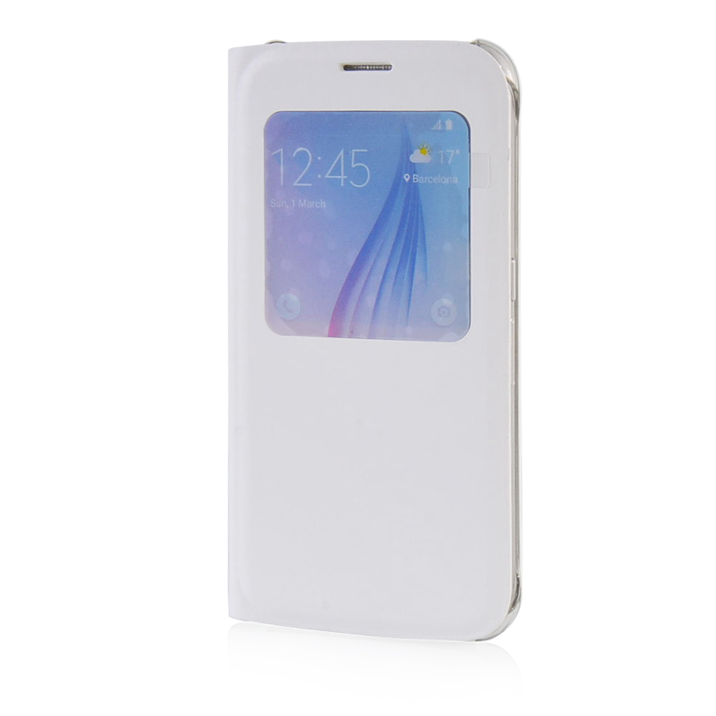 MOONCASE mooncase soft silicone gel side flip pouch hard shell back чехол для samsung galaxy s6 white