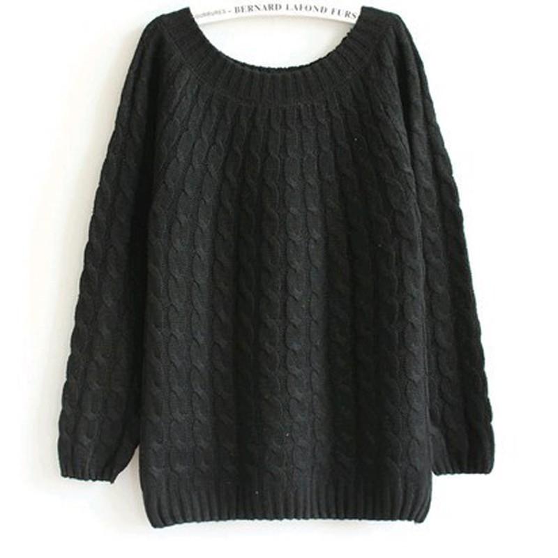 quzihua Черный Свободный пуловер mexx джемперы свитера и пуловеры с вырезом