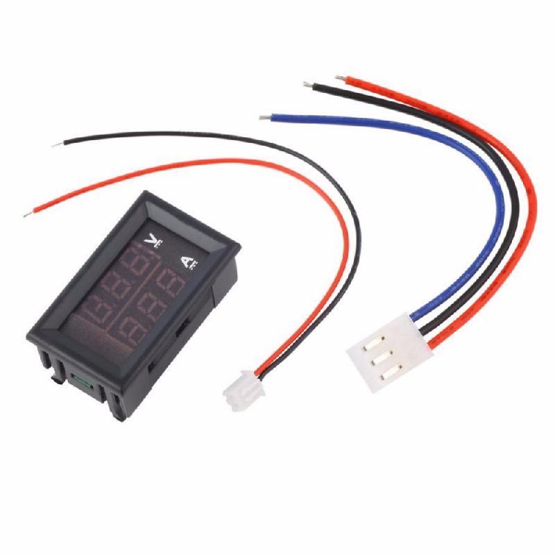 meterk Black dc 4 5 30v 0 50a двойной красный светодиодный цифровой вольтметр амперметр напряжение питания amp es9p