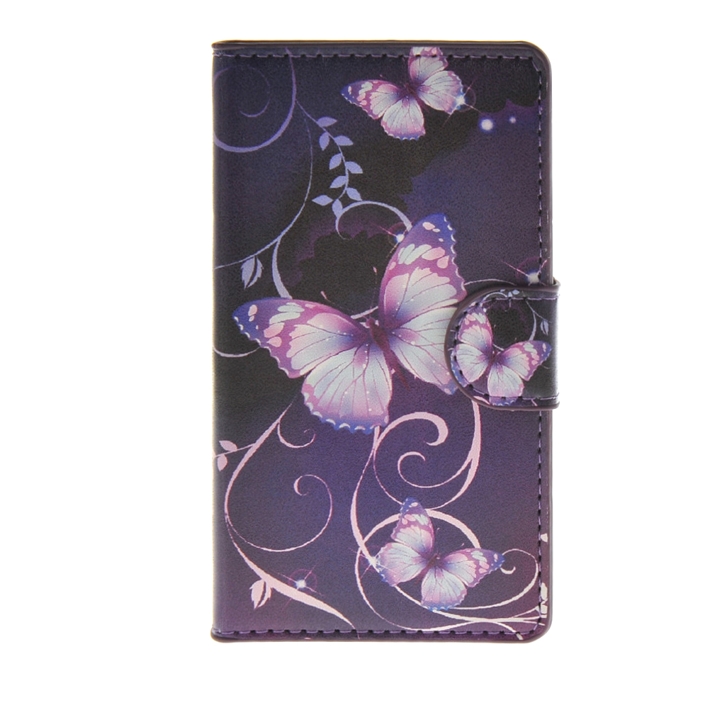 MOONCASE mooncase simple leather flip wallet card slot stand back чехол для sony xperia m4 aqua blue