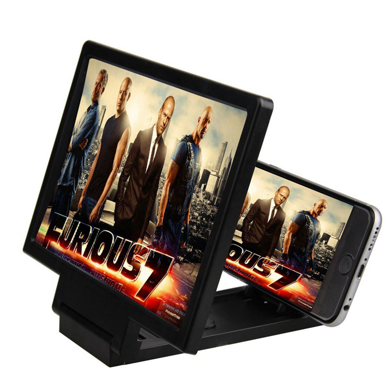 FIRSTSELLER Чёрный цвет Общепринятый складное 3 кратное зум увеличительное стекло сотовый телефон экран hd усилитель для 3d фильмов
