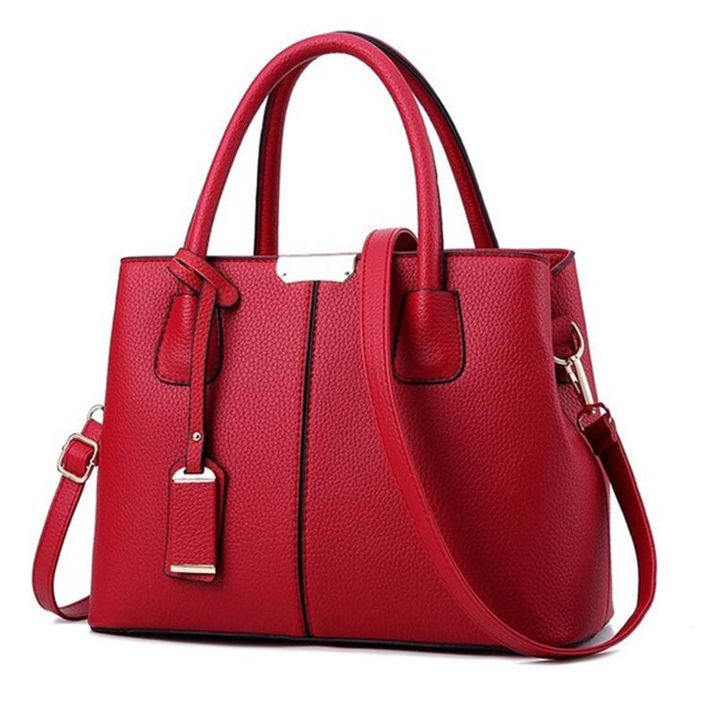 SMOOZA красный средний горячие корейской леди женщины хобо кожа pu посланника плеча сумки totes кошелек
