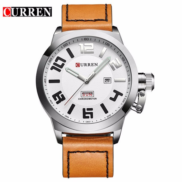 CURREN 03 fashion top luxury brand curren watches men stainless steel mesh strap quartz watch ultra thin dial clock man relogio masculino
