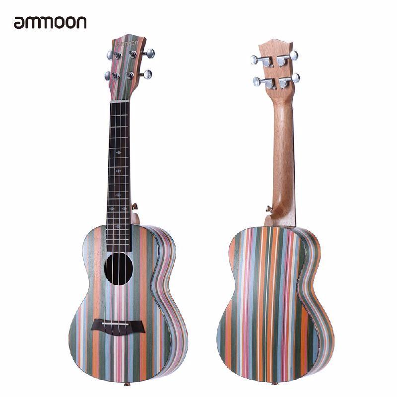 ammoon Brown concert ukulele neck fretboard rosewood fingerboard for 23 inch hawaii guitar parts