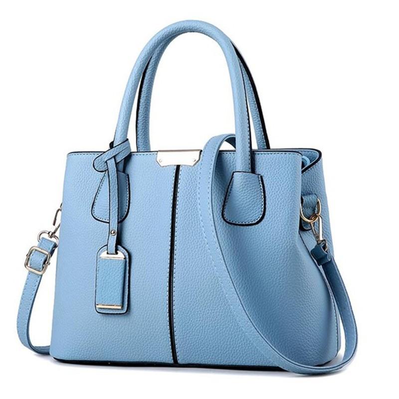 SMOOZA Голубое небо средний горячие корейской леди женщины хобо кожа pu посланника плеча сумки totes кошелек