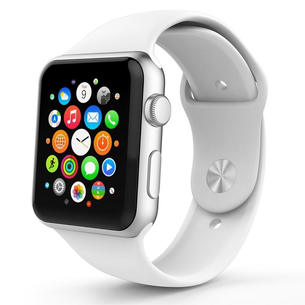 BRG Белый умные часы apple watch series 3 38mm grey space with black sport band mqkv2ru a