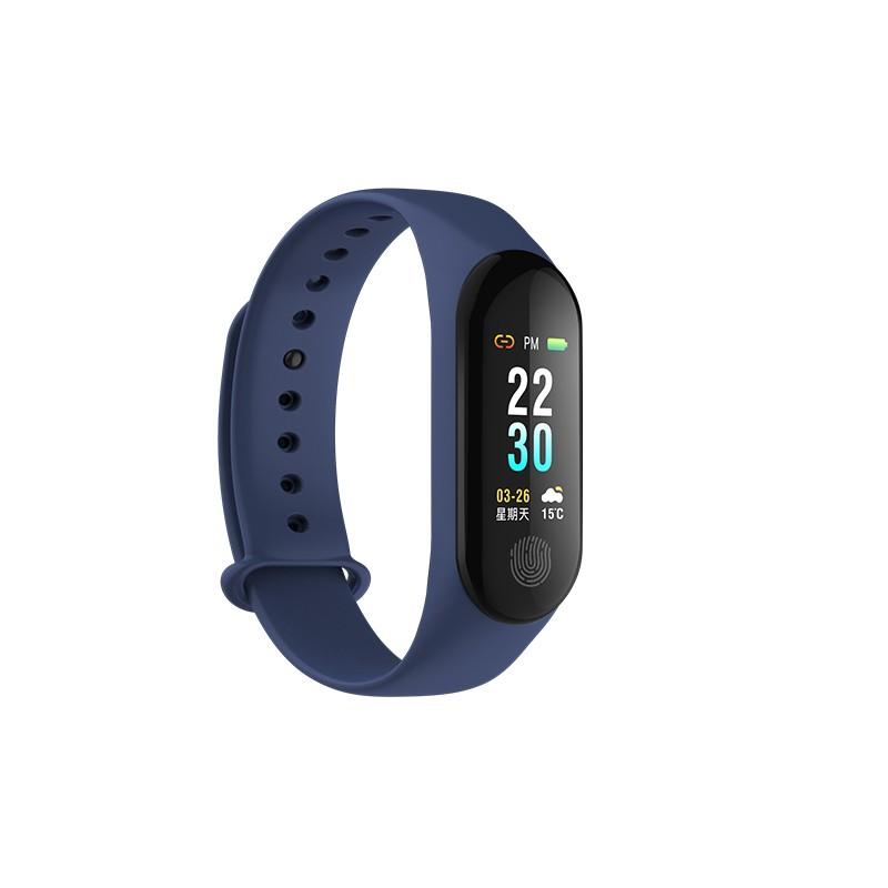 9Tong Blue Смарт-браслет большой экран smart bracelet sport pedometer band heart rate fitness watch tracker кровавый кислородный монитор wristband для ios android