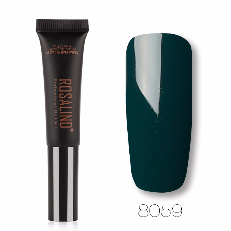 ROSALIND Фруктовый зеленый гель лак для ногтей pupa lasting color gel 019 цвет 019 sumptuous mane variant hex name c93a56