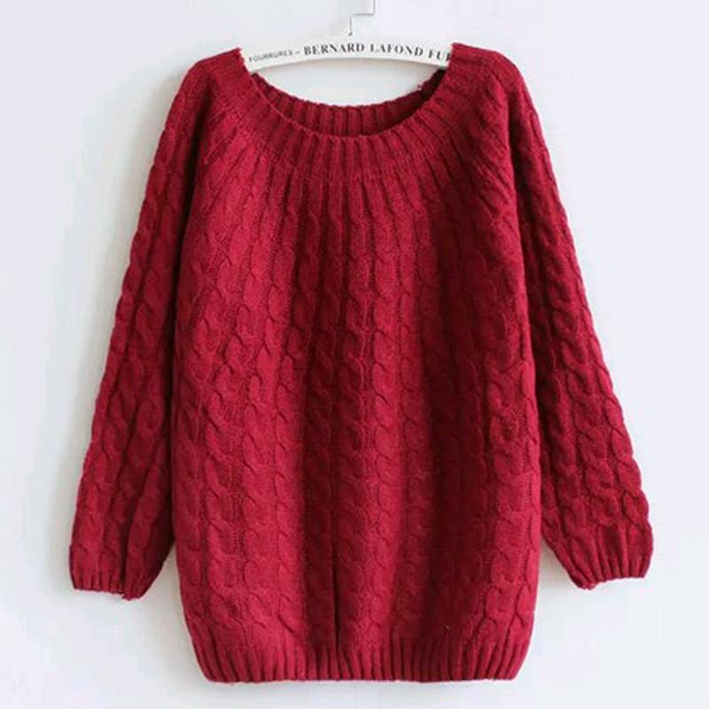 quzihua Бордовый Свободный пуловер mexx джемперы свитера и пуловеры с вырезом