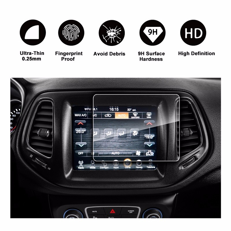 RUI YA Прозрачный цвет 2017 2018 Jeep Compass Uconnect