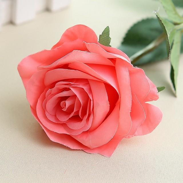 Искусственный цветок из роз цветок искусственный цветок домашнее свадебное украшение engineerin bubble wish Розовый фото