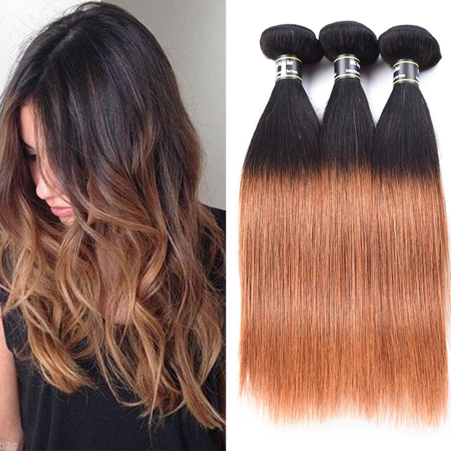 Amazing Star T1B  30 18 18 20 прямые волосы ombre волосы пучки перуанские виргинские волосы волна расширения