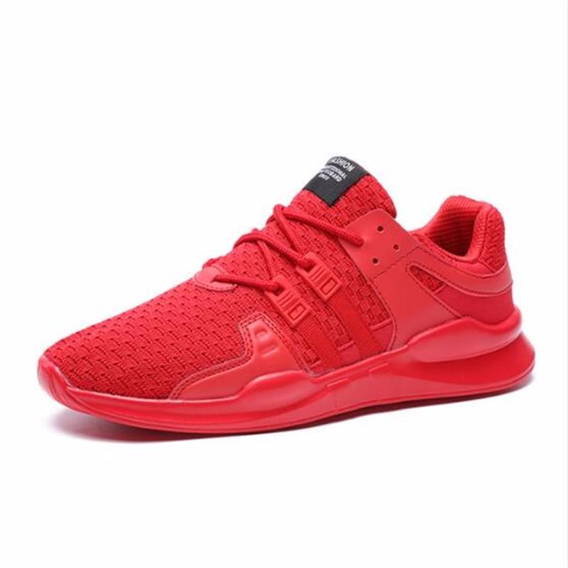 AILOOGE Два красных 10 2017 wholesale hot breathable mesh man casual shoes flats drive casual shoes men shoes zapatillas deportivas hombre mujer