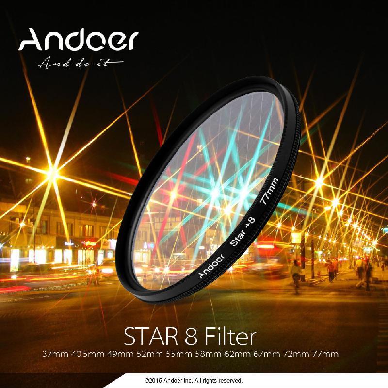 ANDOER Black 67мм Фильтр UV CPL ND8